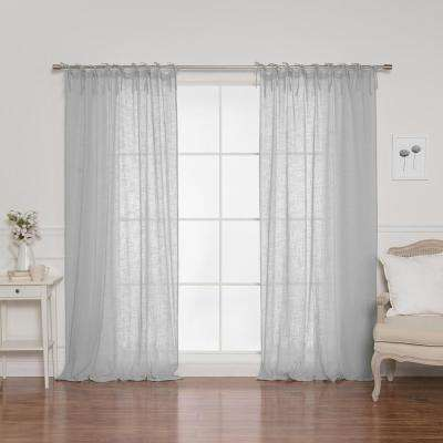84 in. L Cotton Gauze Curtains in Mint (2-Pack)