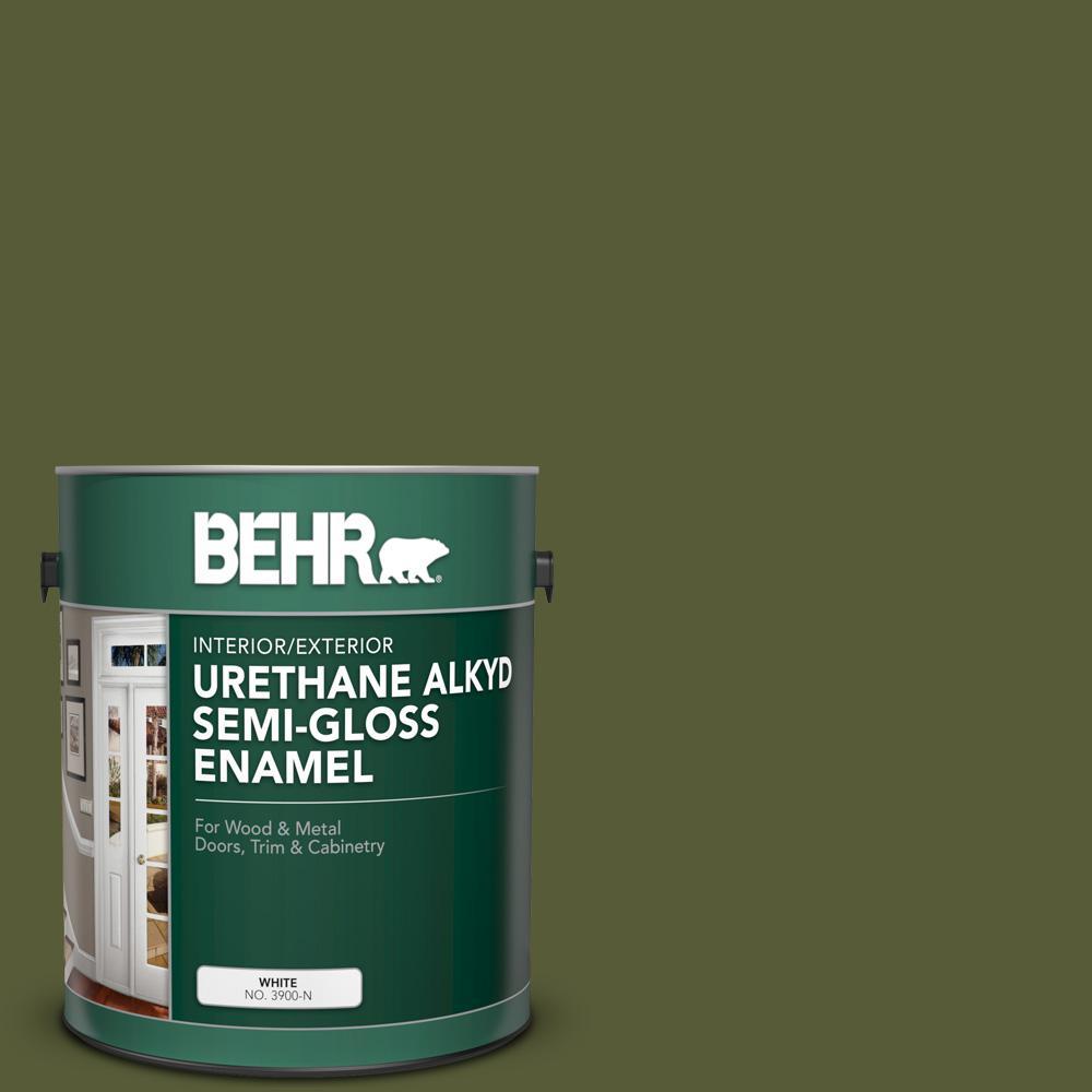 1 gal. #PPU9-25 Eastern Bamboo Urethane Alkyd Semi-Gloss Enamel Interior/Exterior Paint