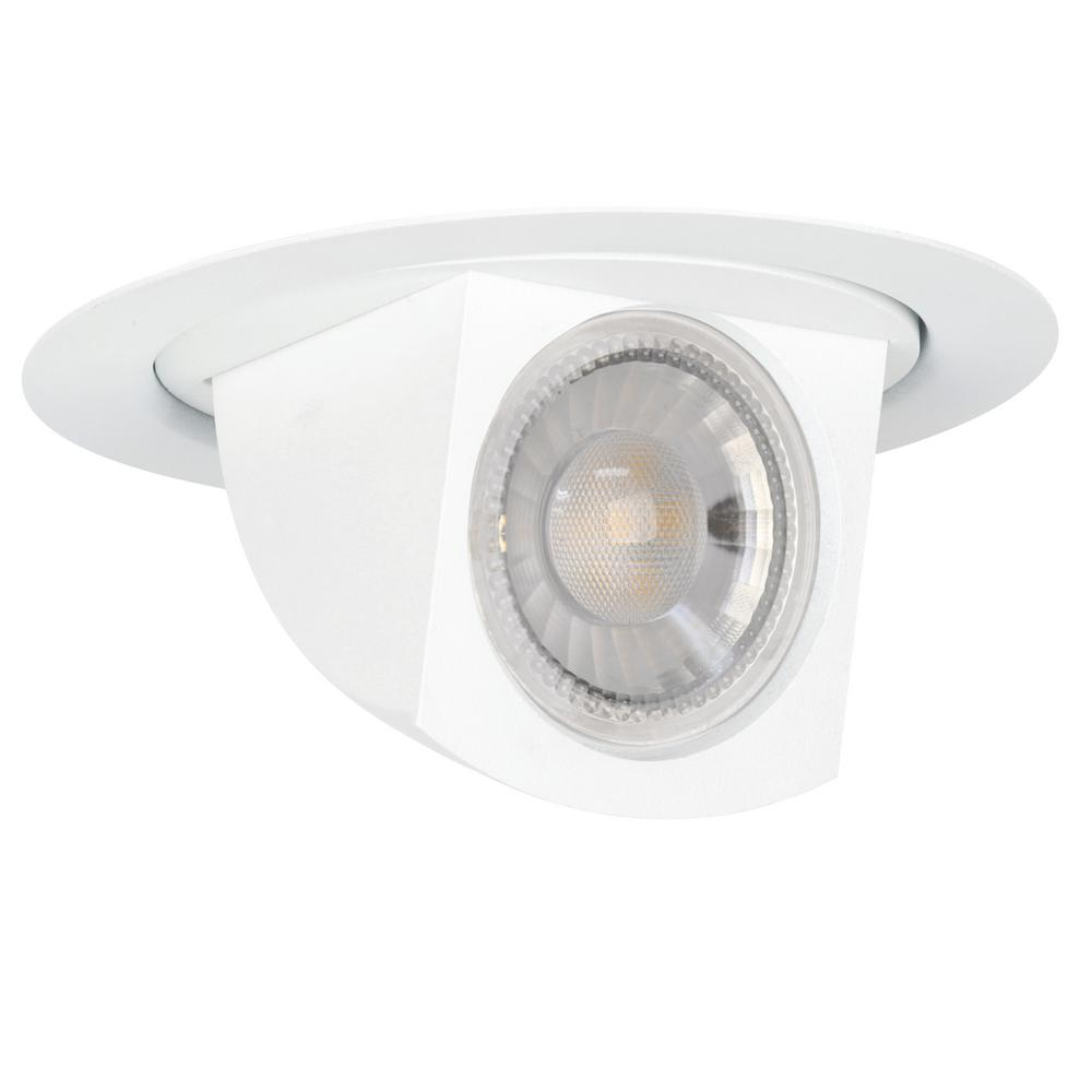 Feit Electric 4 in. 65-Watt Equivalent Bright White (3000K) CEC Title 24 White Integrated LED Recessed Retrofit Trim Spot Light