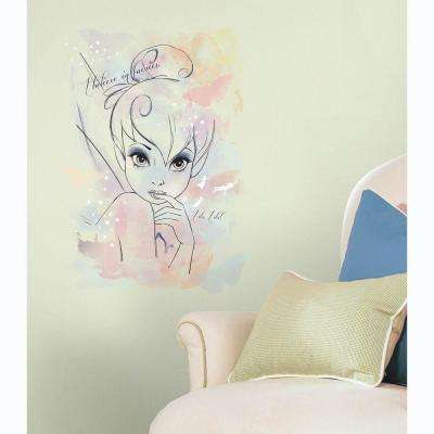 5 in. x 19 in. Disney I Believe in Fairies Tink Watercolor Graphic P&S Giant Wall Decal