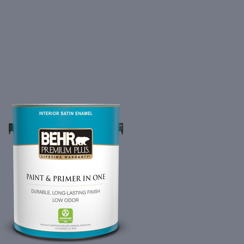 BEHR Premium Plus 1 Gal. #630E-1 Dreamy Cloud Satin Enamel
