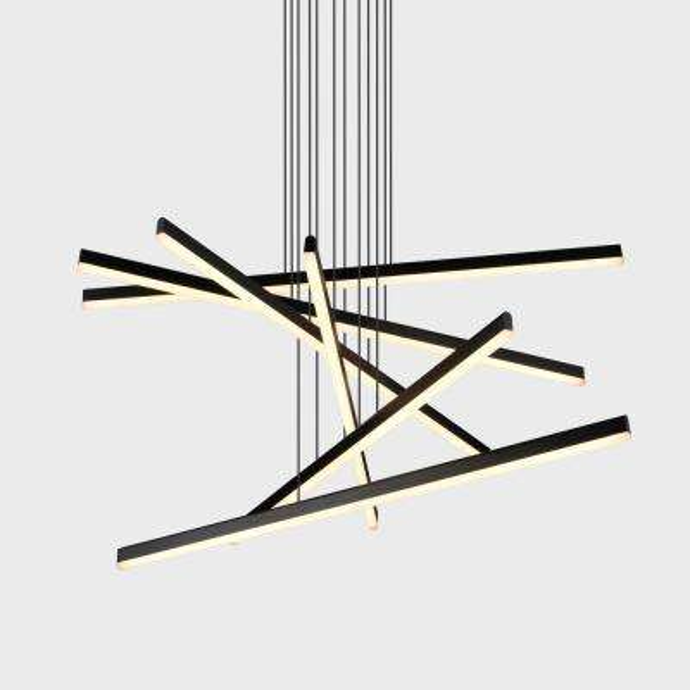 Sirius 95-Watt Black Integrated LED Pendant