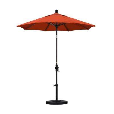 7-1/2 ft. Fiberglass Collar Tilt Patio Umbrella in Sunset Olefin