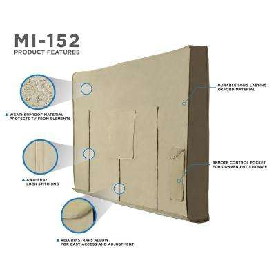 Tan Outdoor TV Cover for 50 in. to 52 in. TVs
