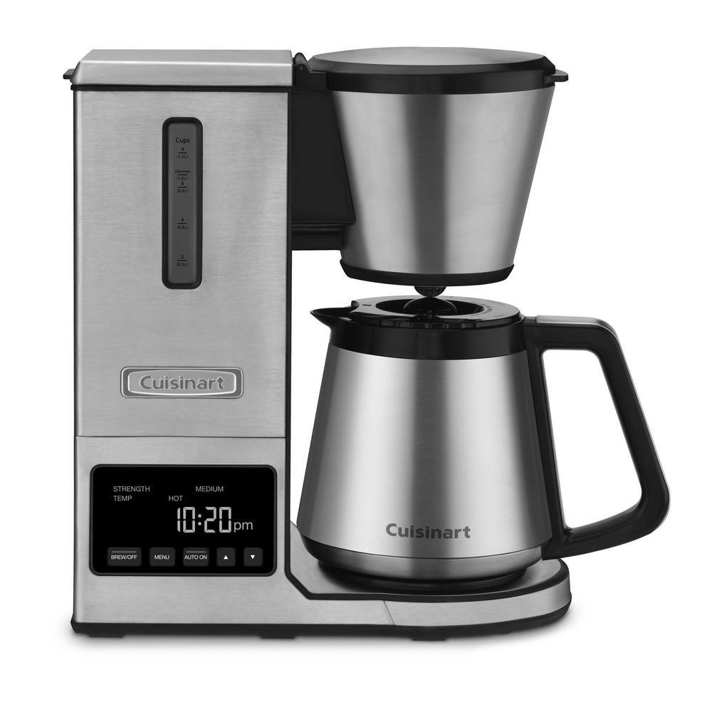 PurePrecision 8-Cup Programmable Silver Drip Coffee Maker