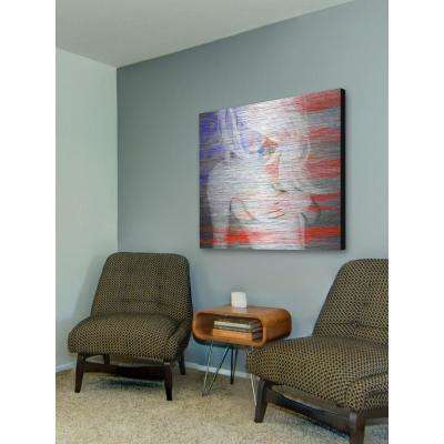 """48 in. H x 48 in. W """"Living the Dream"""" by Marmont Hill Printed Brushed Aluminum Wall Art"""