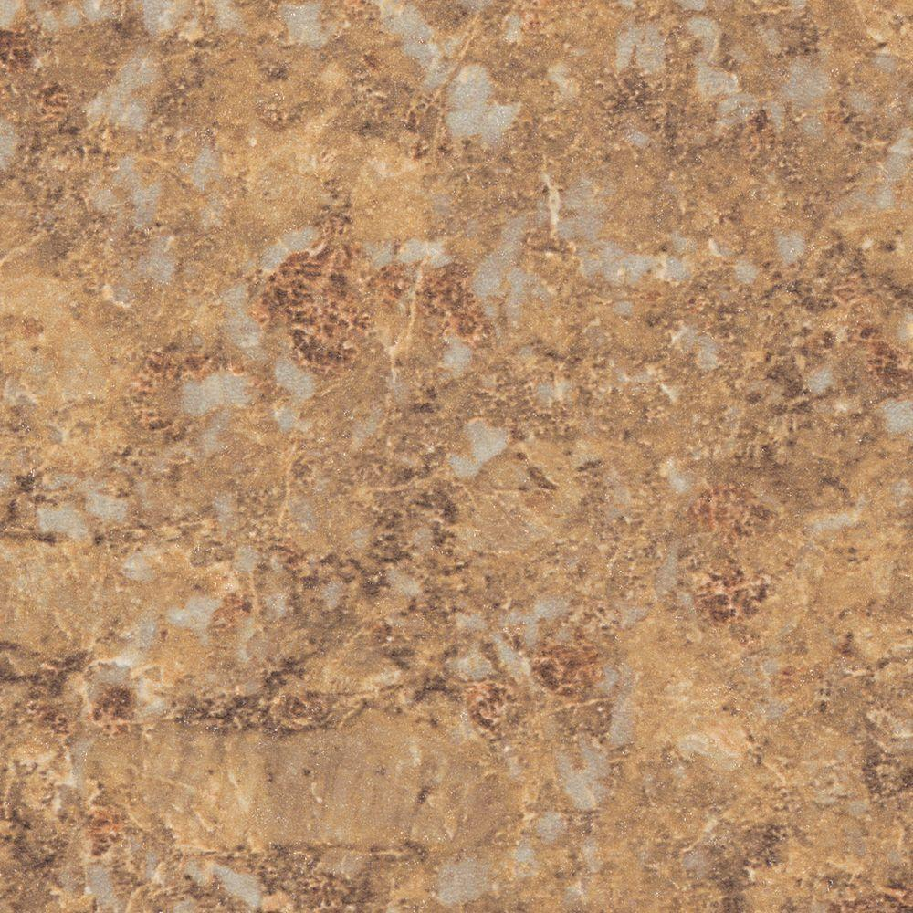 Wilsonart 3 in. x 5 in. Laminate Sheet in Jeweled Coral with Premium Quarry Finish
