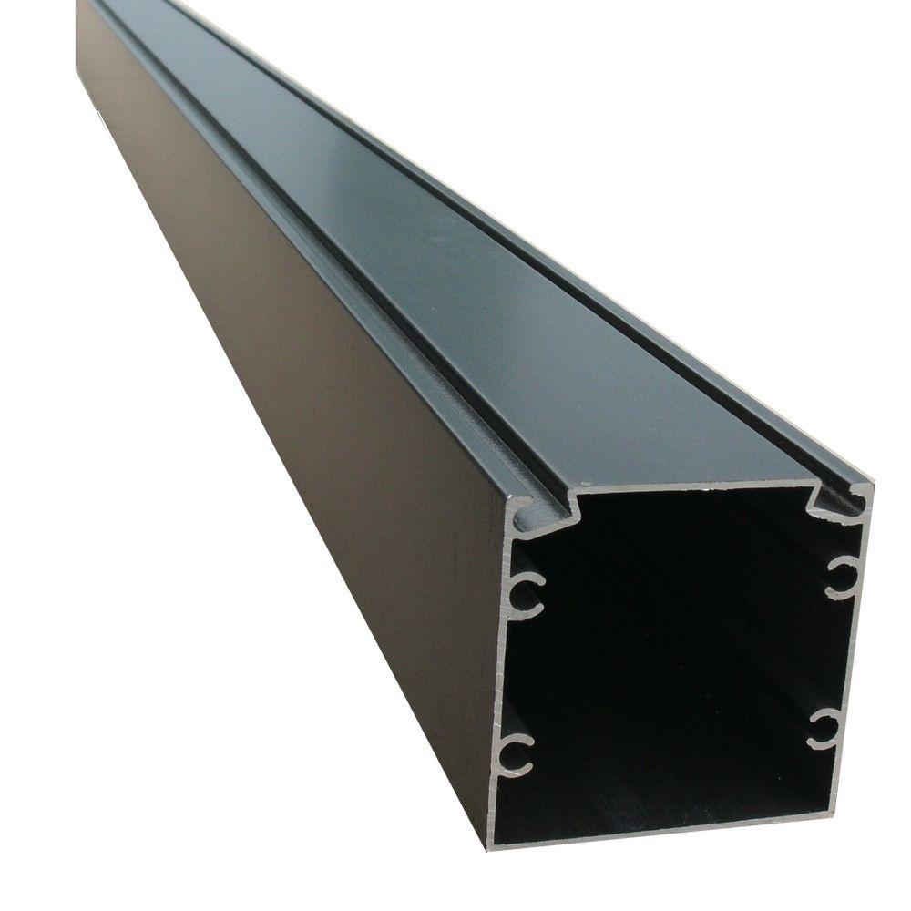 95.25 in. x 2 in. x 2 in. Bronze Screen Room Aluminum Extrusion with Spline Track