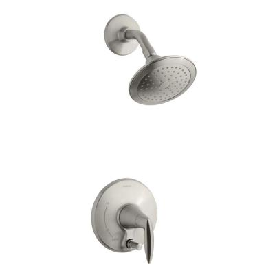 Alteo 1-Handle Shower Faucet Trim Kit with Diverter Button in Vibrant Brushed Nickel (Valve Not Included)