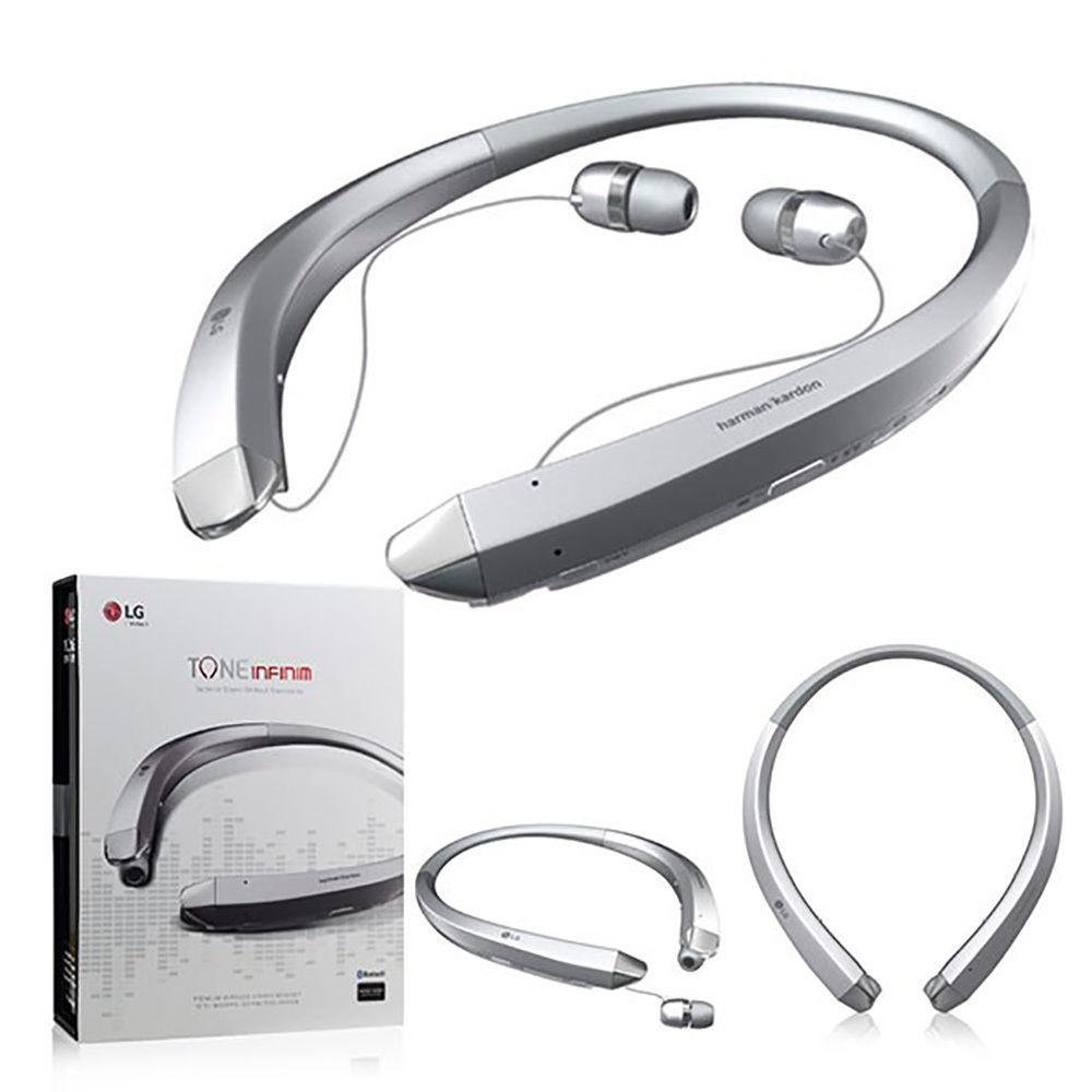 lg electronics tone infinim bluetooth noise cancelling headphone silver lg910svr the home depot. Black Bedroom Furniture Sets. Home Design Ideas