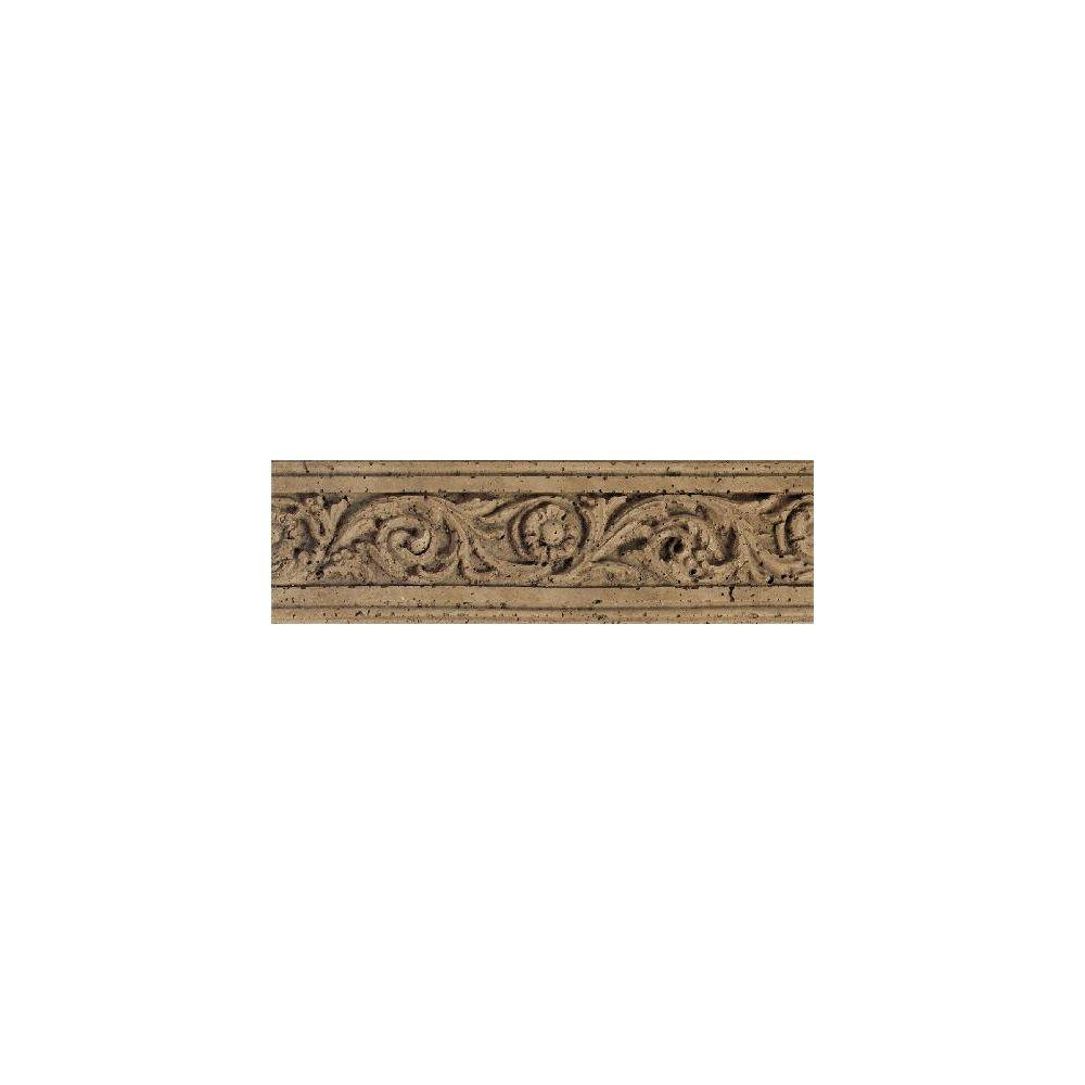Daltile fashion accents noce flora 4 in x 13 in for Tile fashion