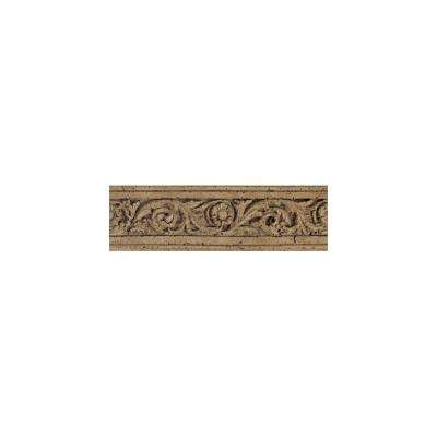 Fashion Accents Noce Flora 4 in. x 13 in. Travertine Listello Wall Tile