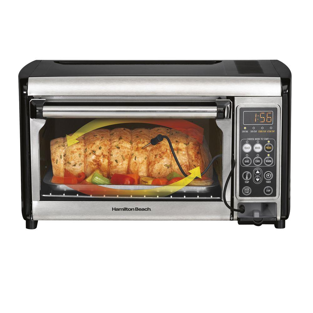 Hamilton Beach 0.43 cu. ft. Set and Forget Convection Toaster Oven-DISCONTINUED