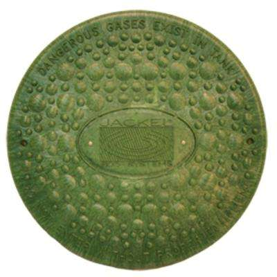 12 in. Green Septic Tank Riser Cover