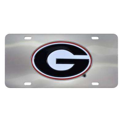 6 in. x 12 in. NCAA University of South Carolina Stainless Steel Die Cast License Plate