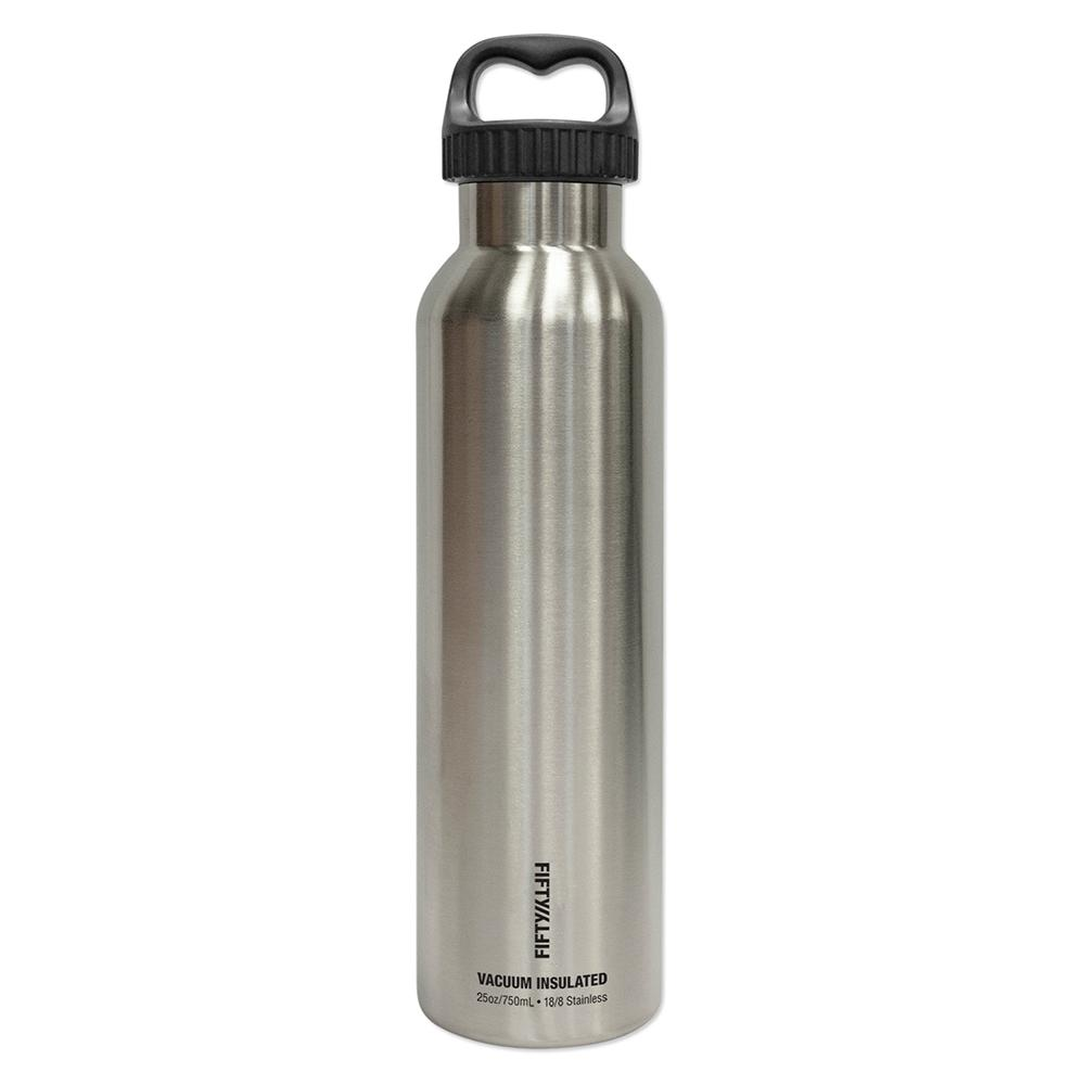 09e7fdf1bd FIFTY/FIFTY 25 oz./750ml Vacuum-Insulated Bottle-Stainless Silver ...
