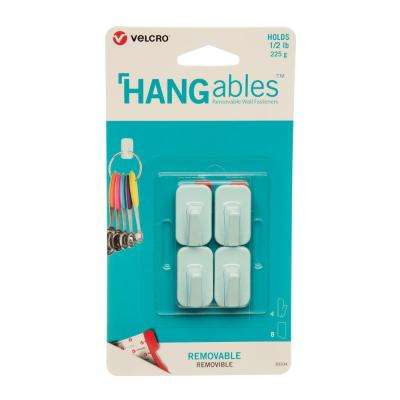 HANGables Removable Micro Hook in Aqua (4-Count)