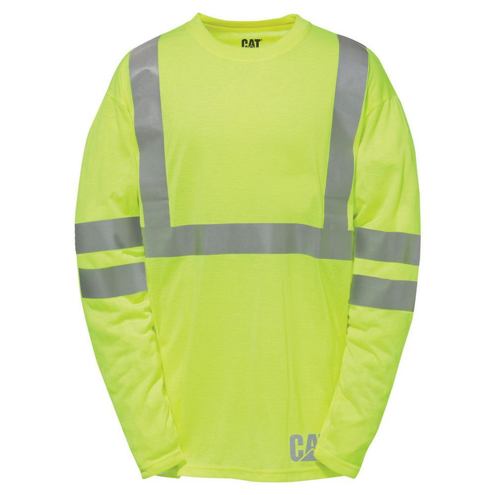 7f3f887127b770 Caterpillar Hi-Vis Men s Tall-X-Large Yellow Polyester ANSI Class 2 ...