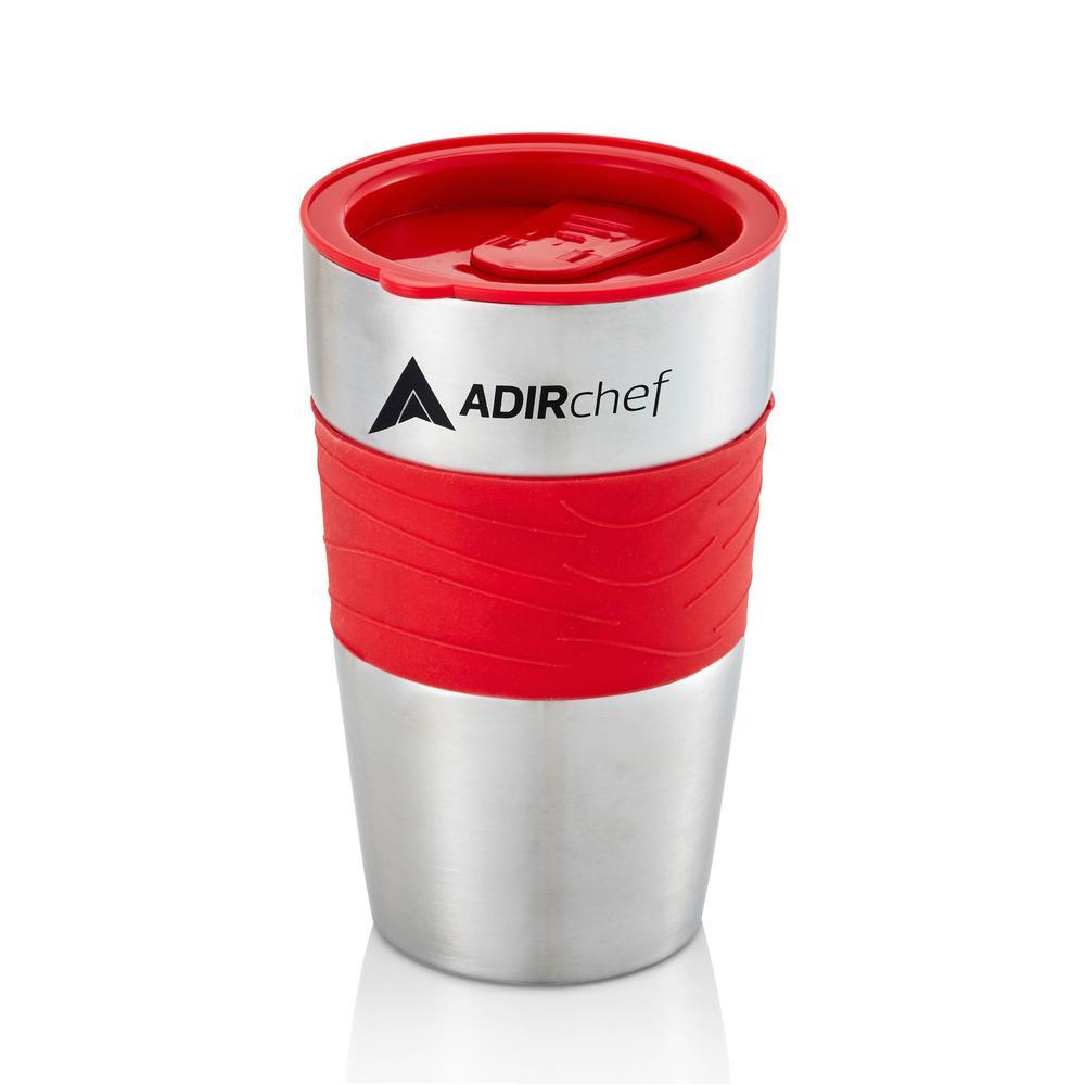 15 oz. Red Stainless Steel Travel Mug (2-Pack)
