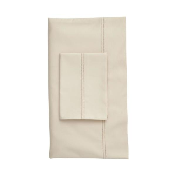 The Company Legends Light Sand Solid 800 Thread Count Egyptian Cotton Sa King Flat