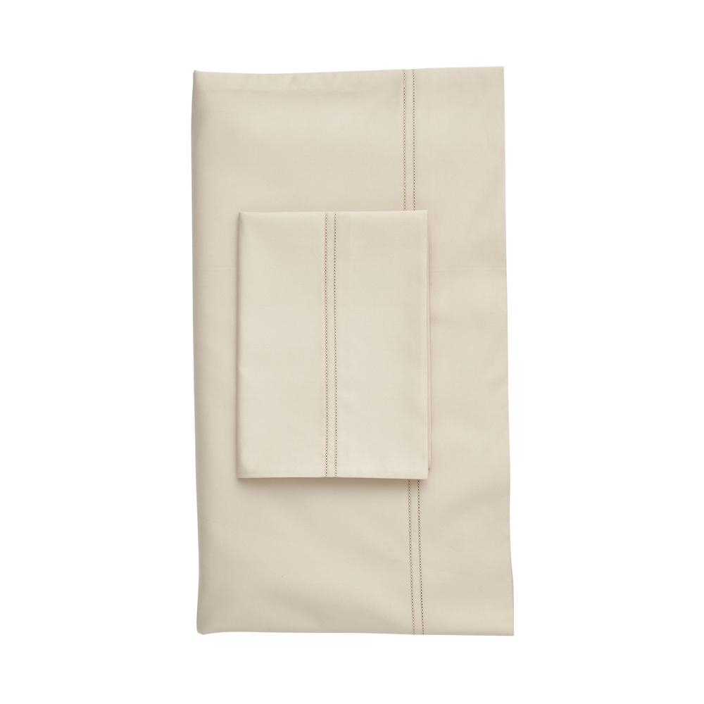 The Company Store Legends Light Sand Solid 800 Thread Count Egyptian Cotton Sateen California King Fitted Sheet