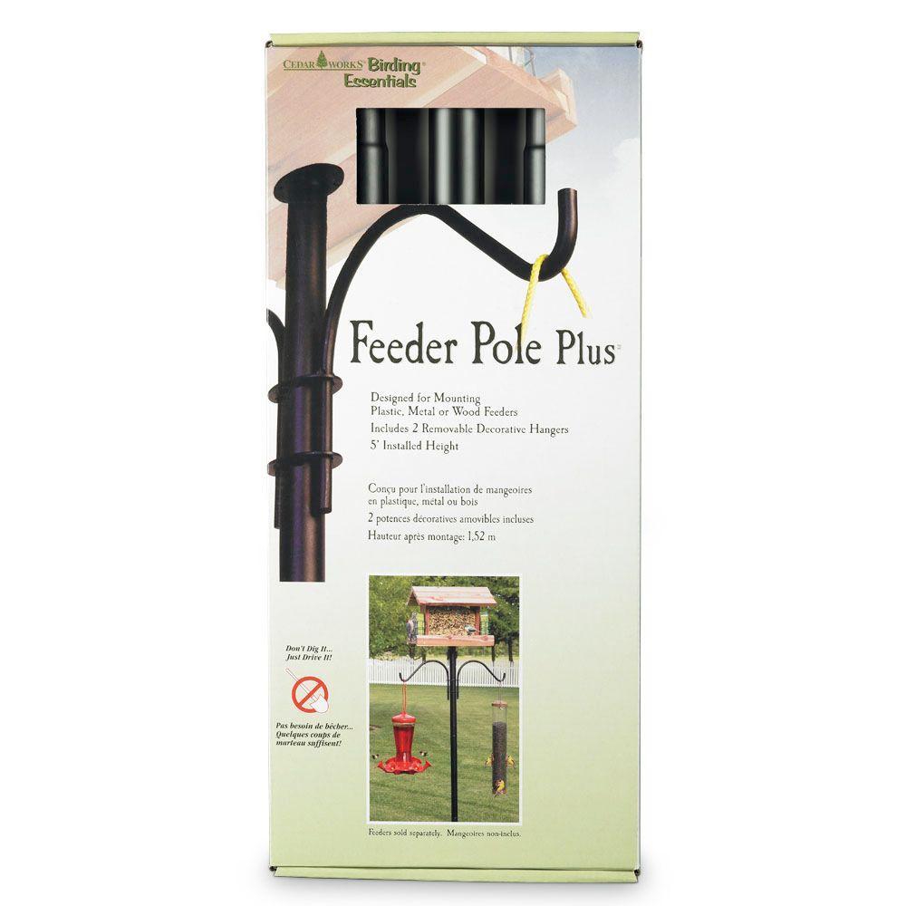 Cedar Works Feeder Pole Plus-DISCONTINUED