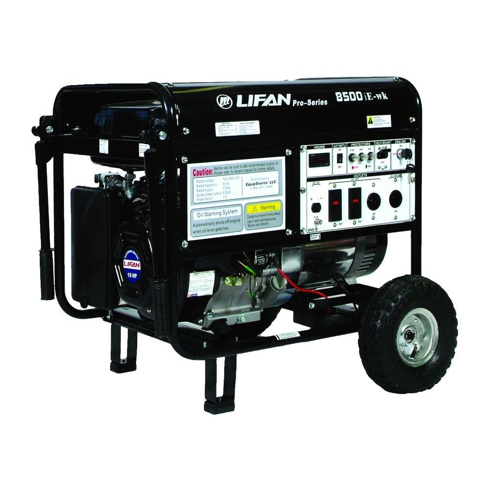 LIFAN Pro Series 8,500-Watt 420 cc GFCI Gasoline Powered Contractor Generator with Electric Start