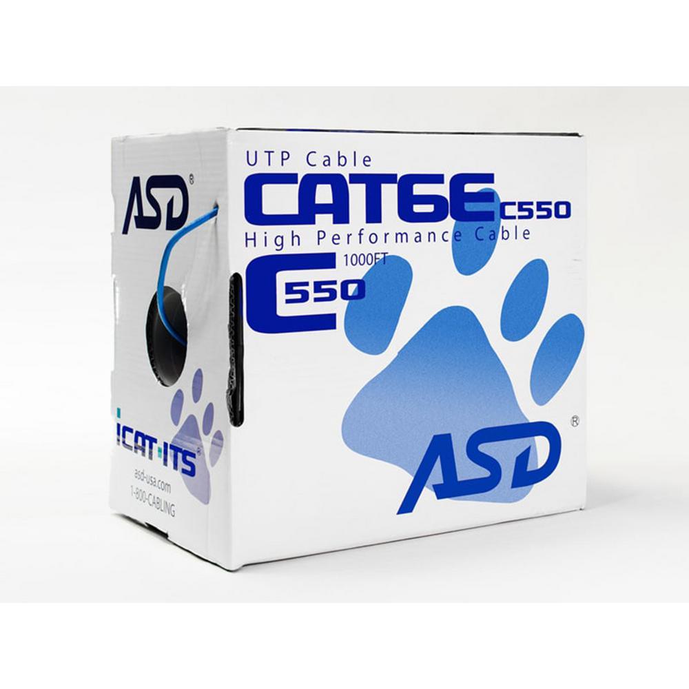 Cat6  Plenum 1,000 ft. Blue 550MHz CMP Box