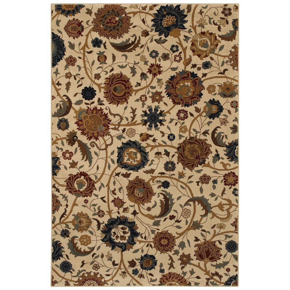 Mohawk Home Cordella Soft Beige 5 ft. 3 in. x 7 ft. 6 in. Area Rug