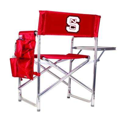 North Carolina State University Red Sports Chair with Digital Logo