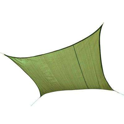 16 ft. x 16 ft. Lime Green Square Heavy Weight Sun Shade Sail (Poles Not Included)
