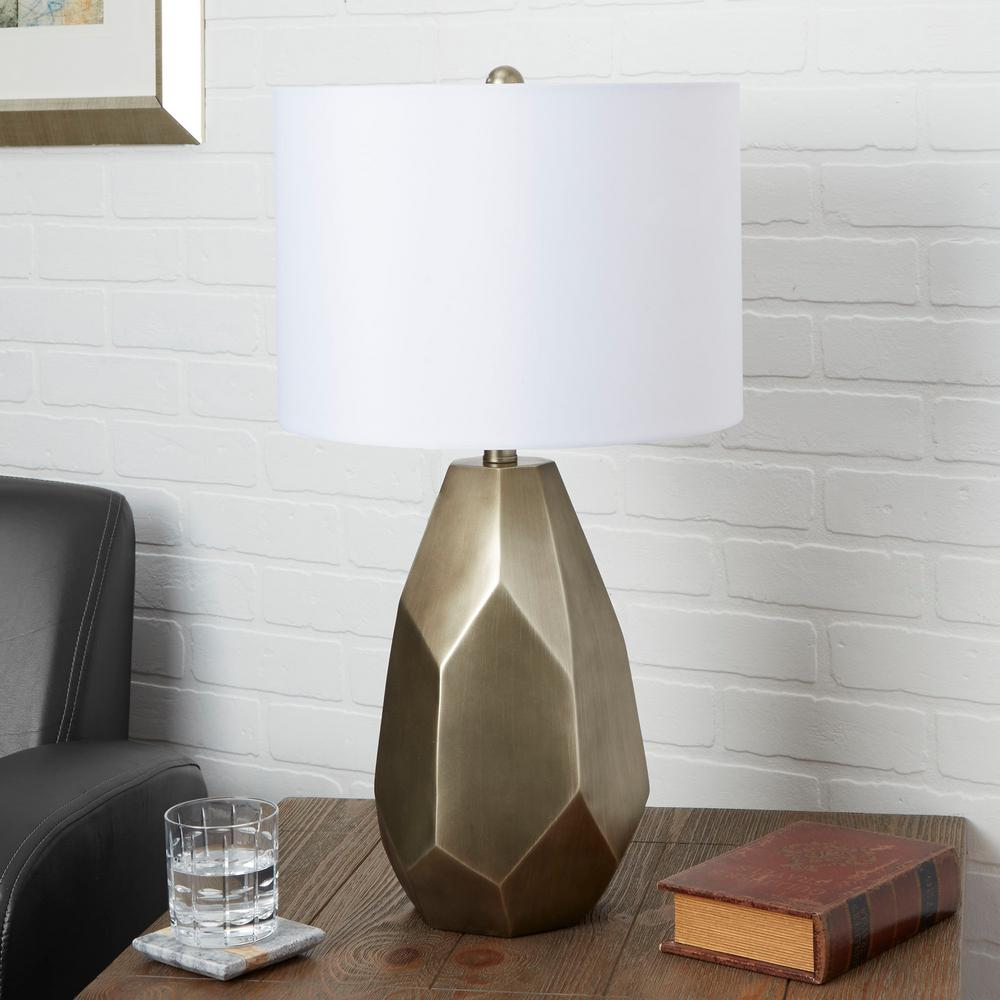 Silverwood Diana 25 5 In Antique Gold Table Lamp With Linen Shade