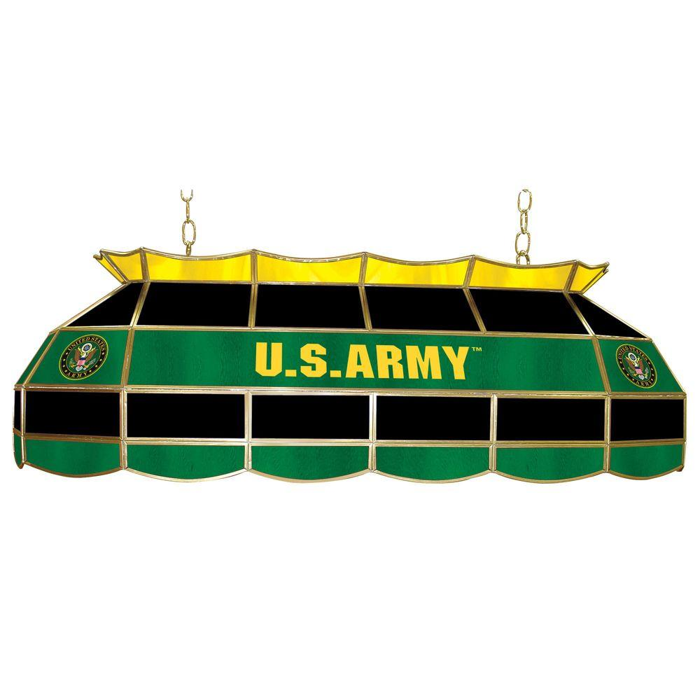 Trademark Global United States Army Symbol 3 Light Stained Glass