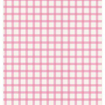 Pink Plaid Wallpaper Sample