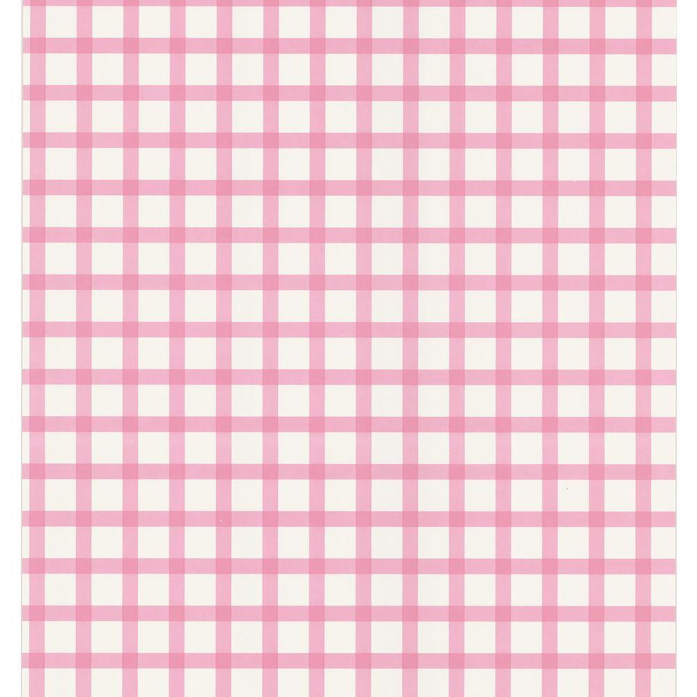 Pink Plaid Wallpaper Sample