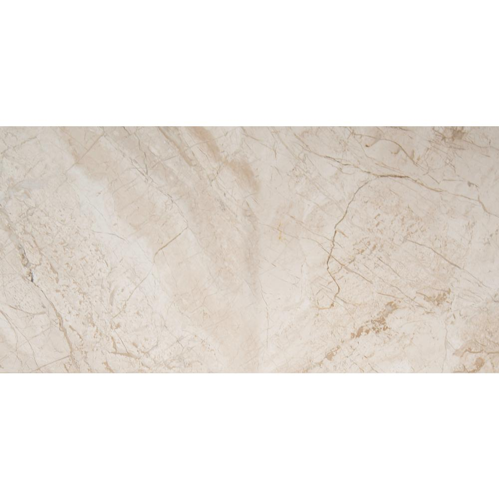 New Diana Reale 12 in. x 24 in. Polished Marble Floor