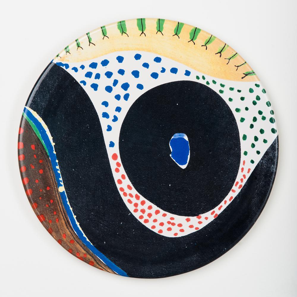 Fiori Ceramic Poppies Plate Set of 4