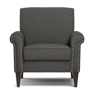 Jean Charcoal Gray Linen Arm Chair