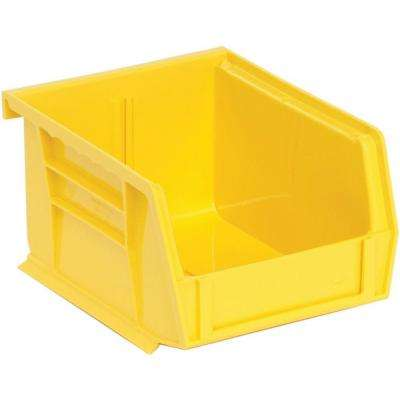 10 Pack Plastic Stackable Heavy Duty Yellow Storage Bin