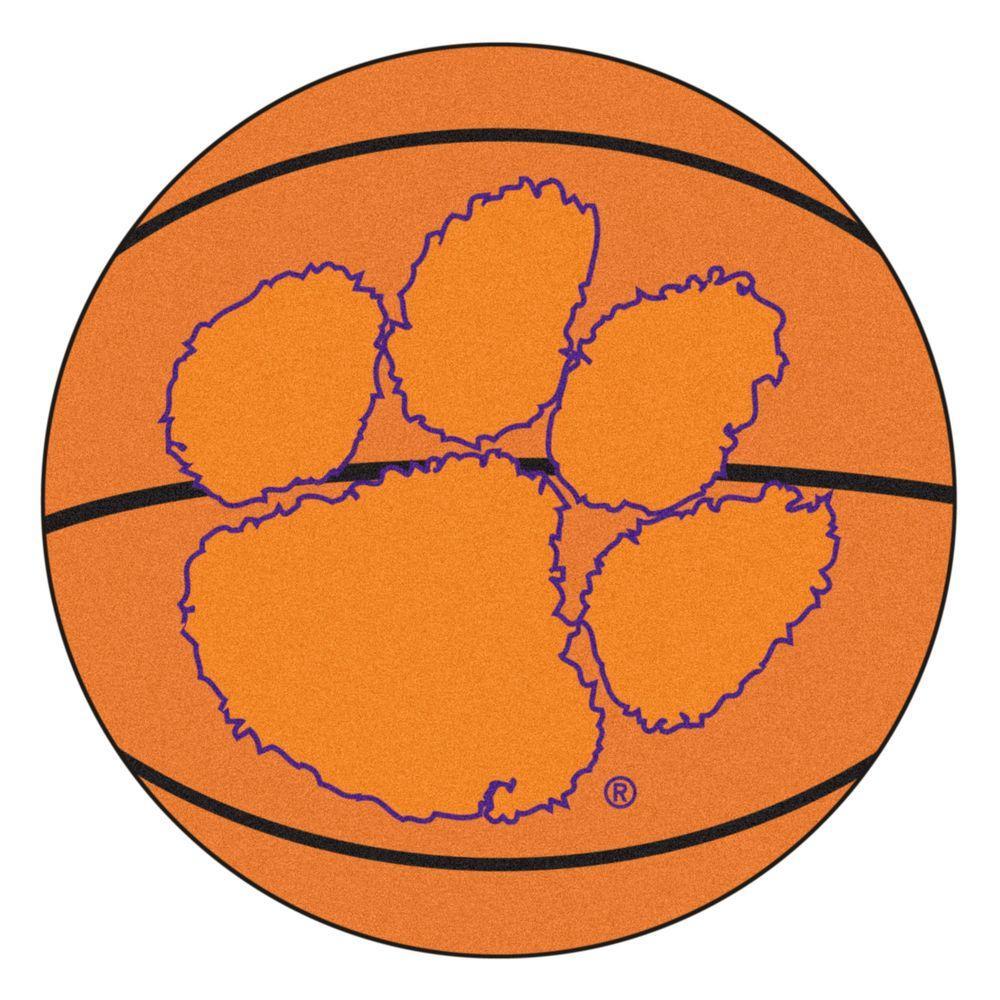 Fanmats Ncaa Clemson University Orange 2 Ft X 2 Ft Round