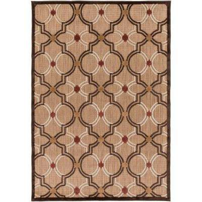 Mount Cohen Khaki 5 ft. x 7 ft. Indoor/Outdoor Area Rug