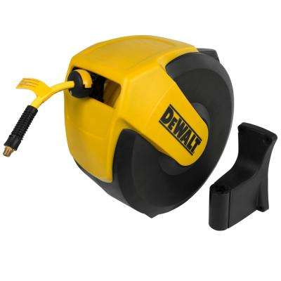 3/8 in. x 50 ft. Enclosed Air Hose Reel with Hybrid Hose