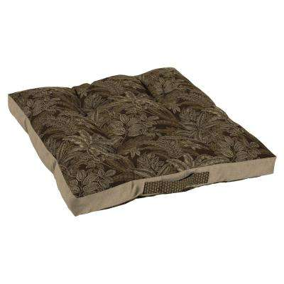 Palmetto Espresso Oversize Outdoor Floor Cushion