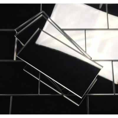 Reflections Silver Subway 3 in. x 6 in. Glass Mirror Wall Tile (14 sq.ft./box)