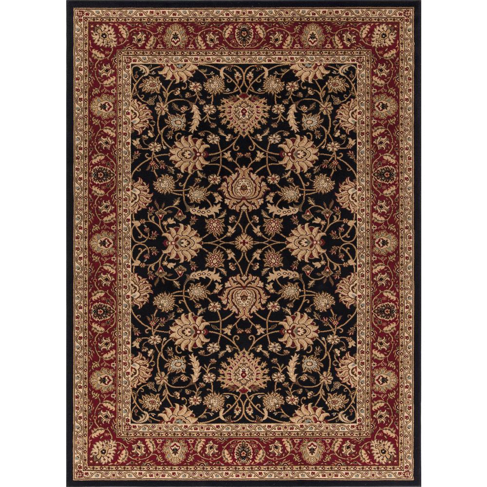 Concord Global Trading Ankara Mahal Black 7 ft. 10 in. x 10 ft. 10 in. Area Rug