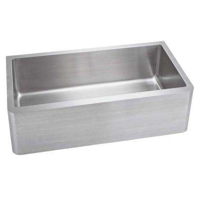 Farmhouse Apron Front Stainless Steel 33 in. 1-Hole Single Bowl Kitchen Sink