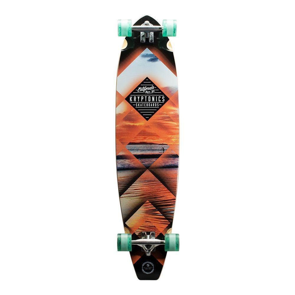 44 in. Sunset Tubes Blocktail Longboard Complete Skateboard