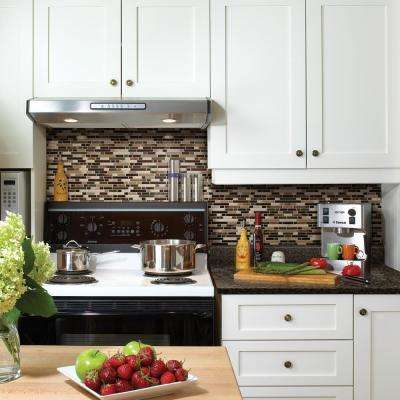 Bellagio Keystone Approximately 3 in. W x 3 in. H Brown, Beige and Bronze Decorative Mosaic Wall Tile Backsplash Sample