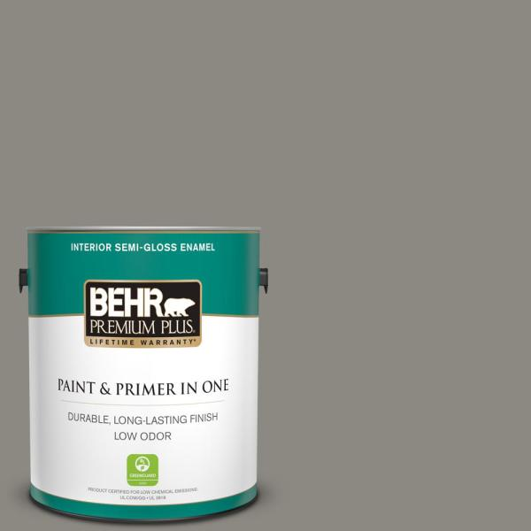 Reviews For Behr Premium Plus 1 Gal Bxc 55 Concrete Sidewalk Semi Gloss Enamel Low Odor Interior Paint And Primer In One 330001 The Home Depot