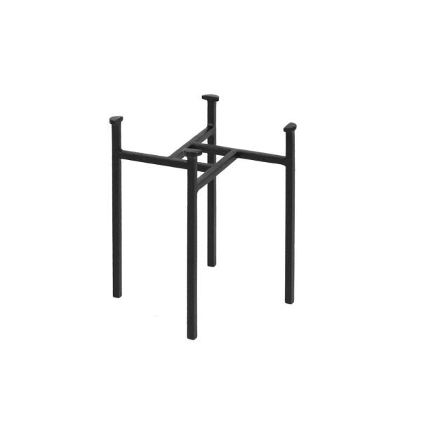15 in. Tall Black Powder Coat Metal Simple Minimalist Tabletop and Floor Eileen Plant Stand